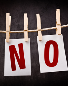 Three Things You Can Say No to Right Now