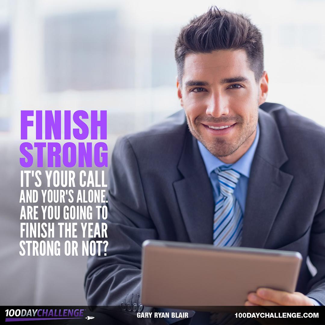 Finish Strong: Never Settle